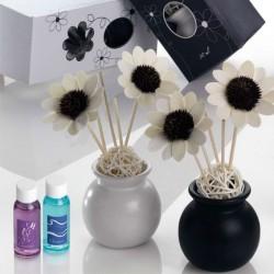 Mikado blanco y negro flores